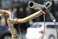 Предпосылка handlebars велосипеда винтажная Стоковое Фото