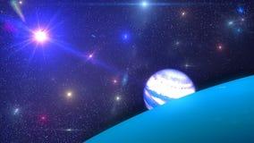 Предпосылка HD Loopable с славными космосом и землей иллюстрация штока
