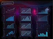 Предпосылка HUD Элементы Infographic графические Цифровые данные, предпосылка дела абстрактная Стоковые Фотографии RF
