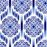 Предпосылка 16 Ikat Ogee Стоковые Изображения
