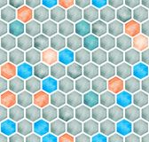 Предпосылка IllustrationÂŒ акварели абстрактная геометрическая полигональная безшовная Стоковое Изображение