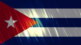 Предпосылка Loopable флага Кубы иллюстрация штока