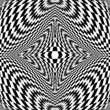 Предпосылка monochrome иллюзии дизайна checkered иллюстрация штока