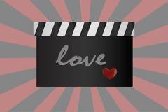 Предпосылка moviel влюбленности Стоковое фото RF