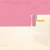 Предпосылка pink2 краски и ролика Стоковая Фотография