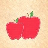 Предпосылка Scrapbook Яблока Стоковая Фотография RF