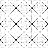 Предпосылка Seamlees Monochrome геометрическая Стоковое Изображение RF