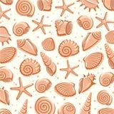 Предпосылка Seashells вектор Стоковая Фотография RF