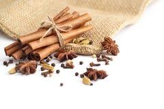 предпосылка spices белизна Стоковое Изображение RF