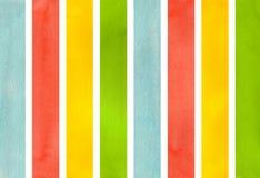 Предпосылка striped акварелью Стоковое Фото