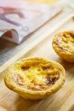 Предпосылка tartson торта или яичка Crepe деревянная Стоковые Изображения RF