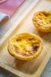 Предпосылка tartson торта или яичка Crepe деревянная Стоковые Фото