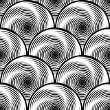 Предпосылка twirl дизайна безшовная monochrome Стоковое Фото
