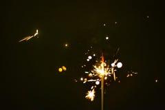 Предпосылка wark бенгальского огня Стоковое Фото
