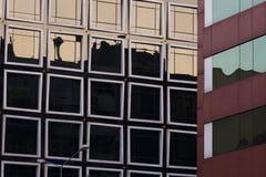 Предпосылка Windows и отражений абстрактная Стоковая Фотография RF
