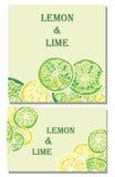 Предпосылки вектора лимона и известки Стоковые Изображения RF