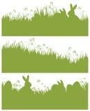Предпосылки весны пасхи силуэта вектора, rabb Стоковые Изображения