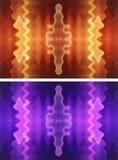 предпосылки 2 волнистые Стоковая Фотография RF
