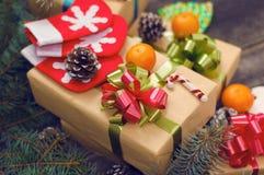 Предпосылки года сбора винограда рождества Стоковое Изображение RF