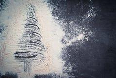 предпосылки голубой рождества темноты вал снежинок ели темно Стоковое Фото