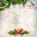 предпосылки голубой рождества темноты вал снежинок ели темно 10 eps Стоковая Фотография RF