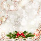 предпосылки голубой рождества темноты вал снежинок ели темно 10 eps Стоковые Фото