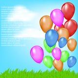 Предпосылки лета с воздушными шарами Стоковое фото RF