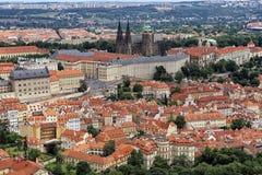 Предпосылки замка Праги Стоковые Фотографии RF