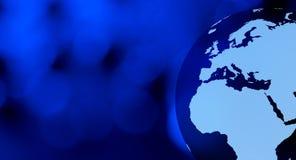 Предпосылки земли планеты футуристические голубые Стоковое Фото