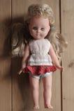 Предпосылки игрушки куклы старые деревянные Стоковая Фотография