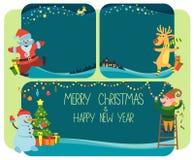 Предпосылки и Новый Год знамени с Рождеством Христовым и счастливый Стоковая Фотография RF