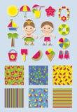 Предпосылки и стикеры для scrapbook бесплатная иллюстрация