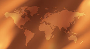 Предпосылки конспекта карты мира дела Стоковое Изображение