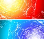 2 предпосылки связи Стоковые Фотографии RF