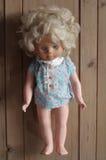 Предпосылки старой игрушки куклы деревянные Стоковое Изображение