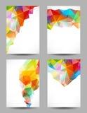 Предпосылки с абстрактными треугольниками Стоковые Фотографии RF
