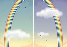 Предпосылки с радугой Стоковые Фотографии RF