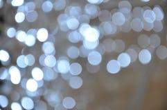 Предпосылки с серебряными светами Стоковое Фото