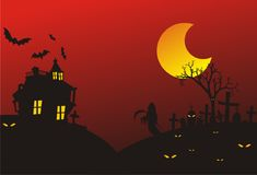 Предпосылки хеллоуина Стоковое Изображение RF