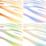 4 предпосылки цветов развевая линии Стоковые Изображения