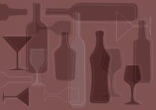 Предпосылк-вектор вина Стоковые Фотографии RF