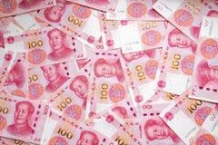 100 предпосылок банкноты фарфора Стоковые Изображения RF