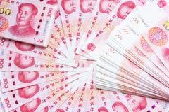 100 предпосылок банкноты фарфора Стоковые Фотографии RF