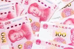 100 предпосылок банкноты фарфора Стоковое Фото