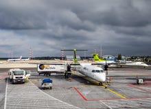 Предполетное обслуживание самолета Стоковое Изображение RF