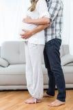 предпологать пар младенца счастливый Стоковая Фотография