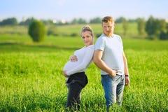 предпологать пар младенца Стоковая Фотография