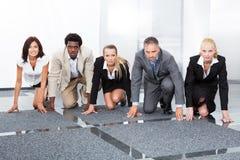 Предприниматели быть готовый для гонки Стоковые Изображения