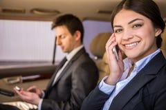 Предприниматели в автомобиле Стоковое Изображение