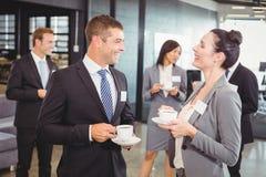 Предприниматели имея обсуждение во время периода отдыха Стоковая Фотография
